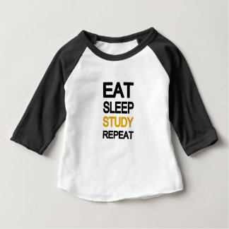 Eat sleep study repeat baby T-Shirt