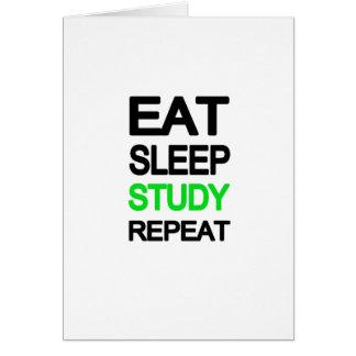 Eat sleep study repeat card