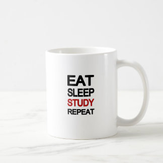 Eat sleep study repeat coffee mug