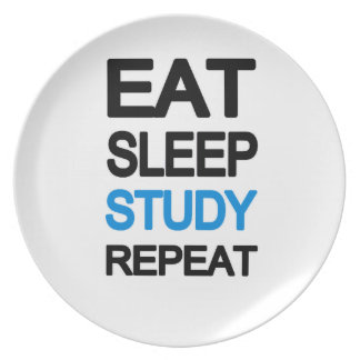 Eat sleep study repeat plate