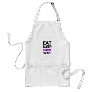 Eat sleep study repeat standard apron