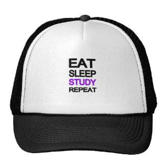 Eat sleep study repeat trucker hat
