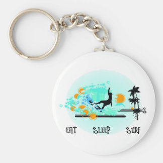 Eat Sleep Surf Keychain