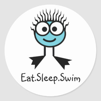 Eat.Sleep.Swim- BlueCharacter Stickers