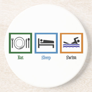 Eat Sleep Swim Drink Coasters