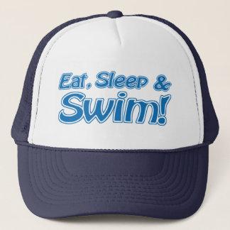 Eat, Sleep & Swim! Hat