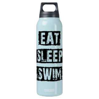 Eat Sleep Swim Insulated Water Bottle
