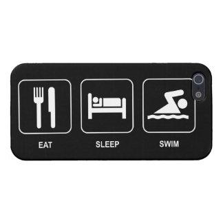 Eat Sleep Swim iPhone 5/5S Cases