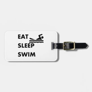 Eat Sleep Swim Luggage Tag