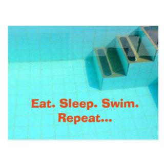 Eat. Sleep. Swim. Repeat... Postcard