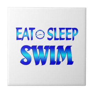 Eat Sleep Swim Tile