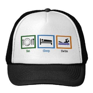 Eat Sleep Swim Trucker Hat