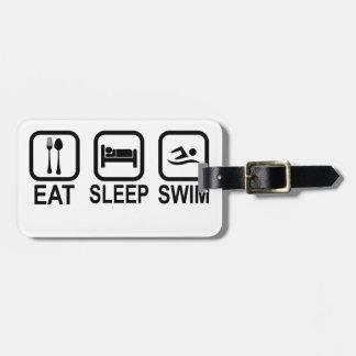 Eat Sleep Swim Tshirts.png Luggage Tag