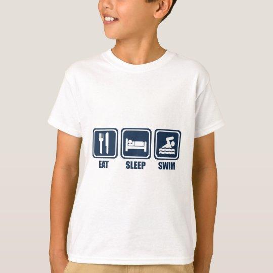 Eat Sleep Swimmming Repeat T Shirt
