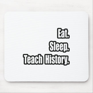 Eat Sleep Teach History Mouse Pad