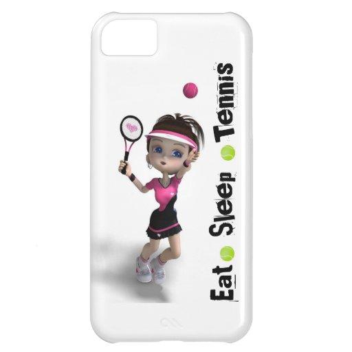 Eat Sleep Tennis Girl iPhone 5C Cases
