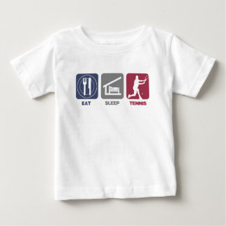 Eat Sleep Tennis - Guy 1 Baby T-Shirt