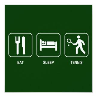 Eat Sleep Tennis Invitation