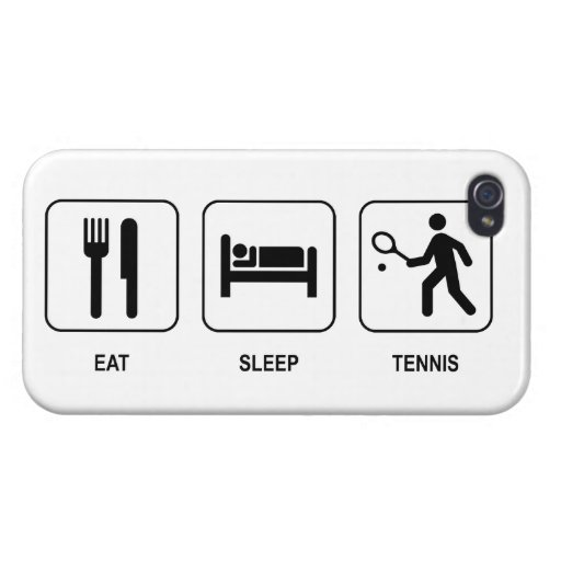 Eat Sleep Tennis Cases For iPhone 4