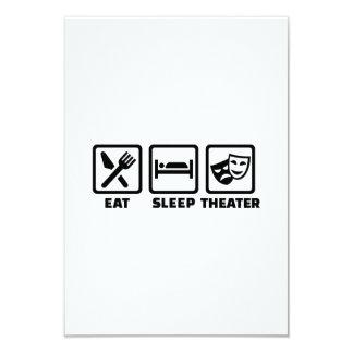 "Eat sleep theater 3.5"" x 5"" invitation card"