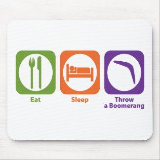 Eat Sleep Throw a Boomerang Mouse Pad