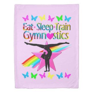 EAT SLEEP TRAIN GYMNASTICS RAINBOW DESIGN DUVET COVER