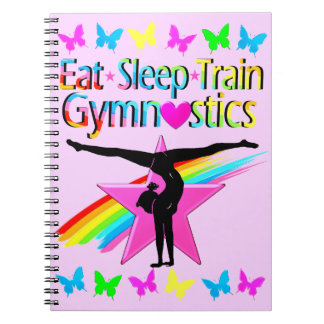 EAT SLEEP TRAIN GYMNASTICS RAINBOW DESIGN SPIRAL NOTEBOOK