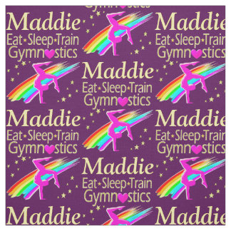 EAT, SLEEP, TRAIN PERSONALIZED GYMNASTICS FABRIC