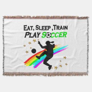 EAT, SLEEP, TRAIN PLAY SOCCER THROW