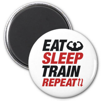 Eat Sleep Train Repeat 2 Inch Round Magnet