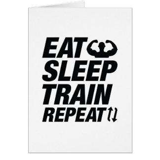 Eat Sleep Train Repeat Card