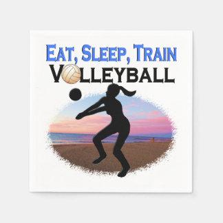 EAT, SLEEP, TRAIN VOLLEYBALL DISPOSABLE NAPKIN