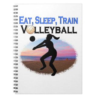 EAT, SLEEP, TRAIN VOLLEYBALL NOTEBOOKS