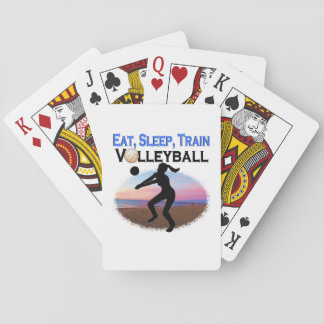 EAT, SLEEP, TRAIN VOLLEYBALL POKER DECK
