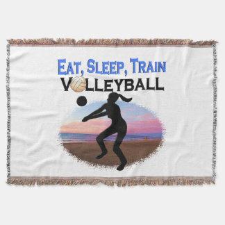 EAT, SLEEP, TRAIN VOLLEYBALL THROW BLANKET