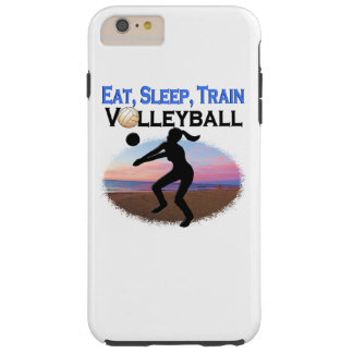 EAT, SLEEP, TRAIN VOLLEYBALL TOUGH iPhone 6 PLUS CASE