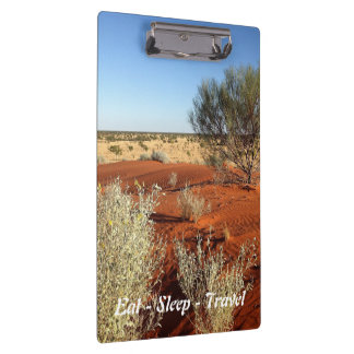 Eat Sleep Travel Australian desert clipboard