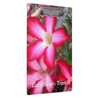 Eat Sleep Travel Australian floral clipboard