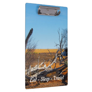 Eat Sleep Travel Australian outback clipboard