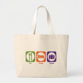 Eat Sleep Travel Large Tote Bag