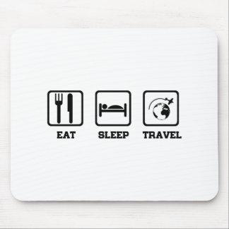 Eat Sleep Travel Mouse Pad