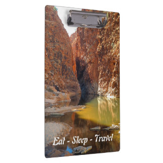 Eat Sleep Travel Outback Australia clipboard