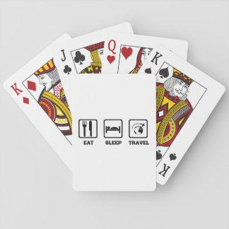 Eat Sleep Travel Poker Deck