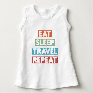 Eat Sleep Travel Repeat Dress