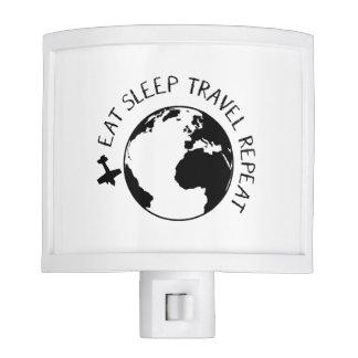 Eat Sleep Travel Repeat Nite Light