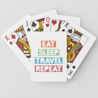 Eat Sleep Travel Repeat Playing Cards