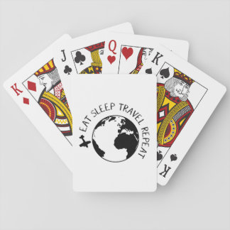 Eat Sleep Travel Repeat Poker Deck