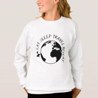 Eat Sleep Travel Repeat Sweatshirt