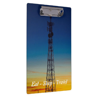 Eat Sleep Travel towersunset clipboard