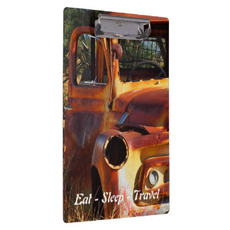 Eat Sleep Travel Vintage car clipboard